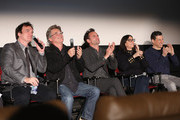 Quentin Tarantino, Kurt Russell, Walton Goggins, Stacey Sher and Fred Raskin attend The Academy Of Motion Picture Arts And Sciences Hosts An Official Academy Screening Of THE HATEFUL EIGHT on December 15, 2015 in New York City.