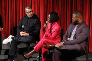 Director Jordan Peele and actors Lupita Nyong'o and Winston Duke on stage during The Academy of Motion Picture Arts and Sciences official screening of Us at the MoMA Celeste Bartos Theater on March 18, 2019 in New York City.