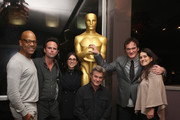 Patrick Harrison, Director of NY Programs and Membership Academy of Motion Picture Arts and Sciences, Walton Goggins, Stacey Sher, Kurt Russell, Quentin Tarantino and Shannon McIntosh attend The Academy Of Motion Picture Arts And Sciences Hosts An Official Academy Screening Of THE HATEFUL EIGHT on December 15, 2015 in New York City.