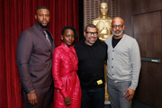 (L-R) Actors Winston Duke and Lupita Nyong'o, director Jordan Peele and AMPAS New York director of programs and membership Patrick Harrison attend The Academy of Motion Picture Arts and Sciences official screening of Us at the MoMA Celeste Bartos Theater on March 18, 2019 in New York City.