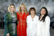 (L-R) Greta Gerwig, Laura Dern, Amy Pascal, and Sharmeen Obaid-Chinoy attend the Academy of Motion Picture Arts & Sciences' Women's Initiative New York luncheon, in partnership with E! Entertainment and with the support of Swarovski on October 02, 2019 in New York City.