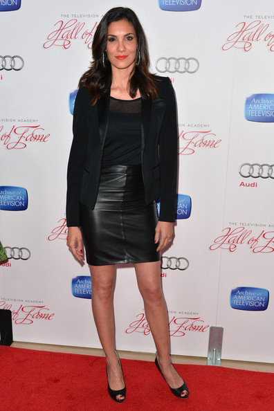 Daniela Ruah In Red Carpet Arrivals At The Hall Of Fame