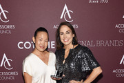 Sarah Tam (L) and Anne Fulenwider pose with Retail Innovator award backstage at the Accessories Council Hosts The 23rd Annual ACE Awards on June 10, 2019 in New York City.