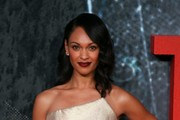 US actress Cynthia Addai-Robinson poses for photographers on the red carpet as she arrives for the European Premiere of the film The Accountant in London on October 17, 2016. / AFP / DANIEL LEAL-OLIVAS