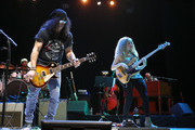 Slash and Tal Wilkenfeld perform at 'Across The Great Divide' benefit concert presented by UpperWest Music Group at Ace Theatre Downtown LA on October 19, 2018 in Los Angeles, California.