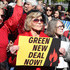 """Actress Jane Fonda participates in a protest in front of the U.S. Capitol during a """"Fire Drill Fridays"""" climate change protest and rally on Capitol Hill, October 18, 2019 in Washington, DC. Protesters are demanding urgent action on adapting the Green New Deal, clean, renewable energy, and an end to all new fossil fuel exploration and drilling."""