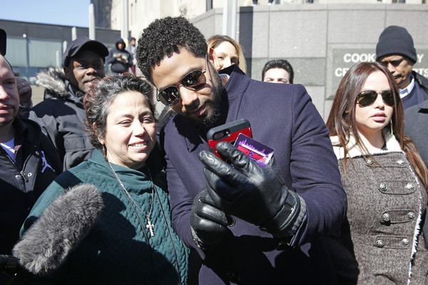 Jussie Smollett Outside Of Court After All Charges Dropped