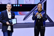 Actress, Writer and Director, Aisha Tyler, helps Dell kick off CES 2020 at their #DellExperience Live press conference, giving the world a glimpse of what the future holds for PC innovation on January 07, 2020 in Las Vegas, Nevada.