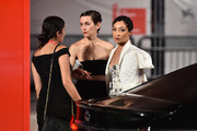 """Ruth Negga (R) walks the red carpet ahead of the """"Ad Astra"""" screening during the 76th Venice Film Festival at Sala Grande on August 29, 2019 in Venice, Italy."""