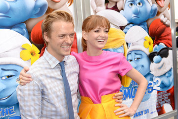"Adam Campbell ""SMURFS 2"" - Los Angeles Premiere - Blue Carpet"