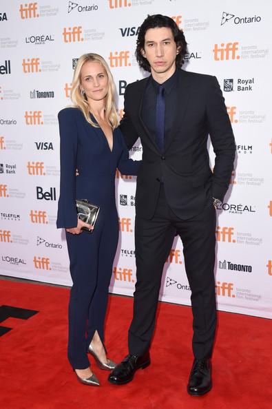 Adam Driver with his wife Joanne Tucker at the premiere While We're Young