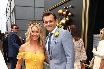 Adam Gilchrist Celebrities Attend Melbourne Cup Day