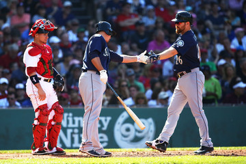 Adam Lind Seattle Mariners v Boston Red Sox