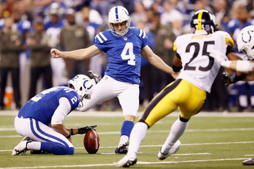 Adam Vinatieri Pittsburgh Steelers v Indianapolis Colts