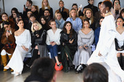 (L-R) Angela Sarafyan, Alice Eve, Andi Matichak, Paola Alberdi, Debby Ryan and  Brittany Xavier attend the Adeam FW19 front row during New York Fashion Week: The Shows at Gallery II at Spring Studios on February 9, 2019 in New York City.