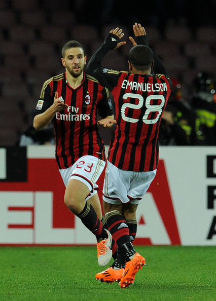 Adel Taarabt Adel Taarabt of Milan celebrates after scoring the opening goal during the Serie A match between SSC Napoli and AC Milan at Stadio San Paolo on February 8, 2014 in Naples, Italy.