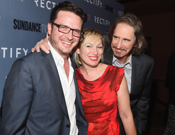 'Rectifiy' Premieres at Sundance [sundancetv celebrates the season 2 premiere of ``rectify,red,event,premiere,fun,smile,photography,glasses,red carpet,ray mckinnon,aden young,actress,lo carmen,l-r,sundance sunset cinema,sundancetv,premiere]