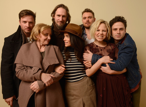 """""""Rectify"""" Portraits - 2013 Sundance Film Festival [rectify portraits,portrait,people,social group,event,family taking photos together,fun,family,family pictures,smile,formal wear,raymond mckinnon,actors,actors,aden young,abigail spencer,adelaide clemens,l-r,sundance film festival]"""