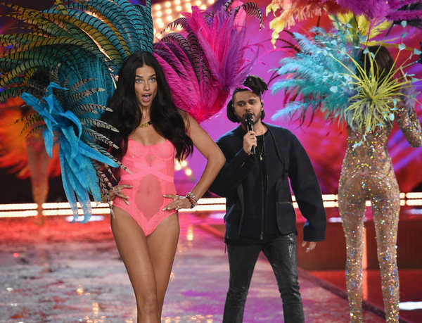 cc8856f72aa Adriana Lima and The Weeknd Photos Photos - Victoria s Secret ...