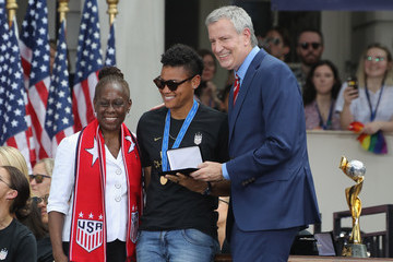Adrianna Franch The US Women's National Soccer Team Victory Parade And City Hall Ceremony