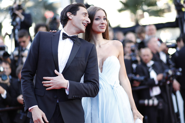 'Ismael's Ghosts (Les Fantomes d'Ismael)' and Opening Gala Red Carpet Arrivals - The 70th Annual Cannes Film Festival [ismaels ghosts,photo,photograph,fashion,suit,dress,event,premiere,gown,shoulder,formal wear,street fashion,red carpet arrivals,adrien brody,lara lieto,screening,caption,cannes film festival,palais des festivals,opening gala]