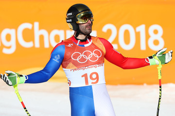 Adrien Theaux Alpine Skiing: Men's Downhill - Winter Olympics Day 6