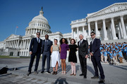 The JDRF 2019 Children's Congress T1D Role Models pose before the hearing on Type 1 Diabetes at the Dirksen Senate Office Building on July 10, 2019 in Washington, DC.