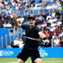 Jamie Murray Photos - Jamie Murray of Great Britain partner of Bruno Soares of Brazil plays a backhand during the mens doubles final against Julien Benneteau of France and Edourd Roger-Vasselin of France during day seven of the 2017 Aegon Championships at Queens Club on June 25, 2017 in London, England. - Aegon Championships - Day Seven