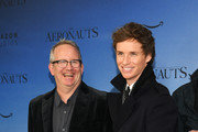 "Ted Hope and Eddie Redmayne attend ""The Aeronauts"" New York Premiere at SVA Theater on December 04, 2019 in New York City."