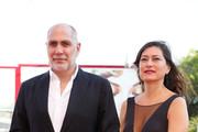 Director Guillermo Arriaga and Eugenia Arriaga attend a premiere for 'From Afar' during the 72nd Venice Film Festival at Sala Grande on September 10, 2015 in Venice, Italy.