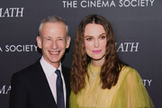 "Keira Knightley and Director James Kent attend a screening for ""The Aftermath"" in New York City at the Whitby Hotel on March 13, 2019 in New York City."