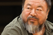 Chinese dissident artist Ai Weiwei arrives for a panel discussion at the Berlin International Literature Festival on September 2, 2015 in Berlin, Germany.