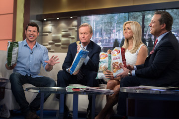 Ainsley Earhardt  Nick Lachey Visits 'Fox & Friends'