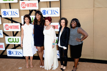 Aisha Tyler Sara Gilbert CW, CBS And Showtime 2013 Summer TCA Party - Red Carpet