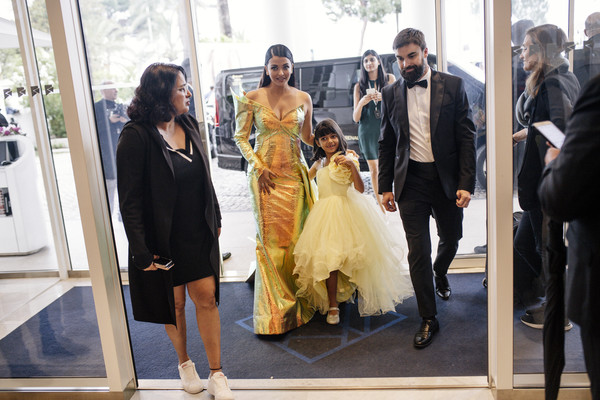Colour Alternative View - The 72nd Annual Cannes Film Festival [image,dress,fashion,yellow,event,fashion design,gown,ceremony,wedding dress,haute couture,wedding,aaradhya,aishwarya rai,colour alternative view,hotel martinez,cannes,france,the 72nd annual cannes film festival]