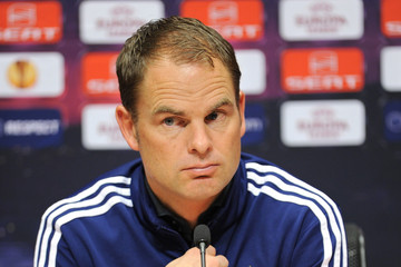 Frank De Boer Ajax Amsterdam Training And Press Conference