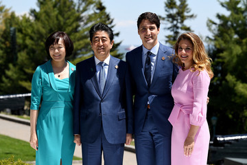 Akie Abe Heads Of State Attend G7 Meeting In Quebec - Day One