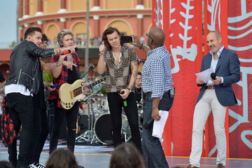 Al Roker Matt Lauer One Direction Visits the 'Today' Show