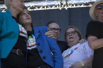 Alan Joyce Australians Gather to Hear Result of Marriage Equality Survey