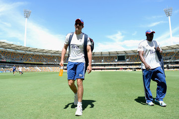 Alastair Cook Michael Carberry England Nets Training Session