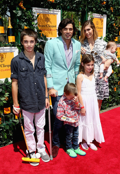 The Sixth Annual Veuve Clicquot Polo Classic - Red Carpet Arrivals [red carpet,carpet,event,flooring,premiere,temple,child,ceremony,red carpet arrivals,alba figueras,hilario figueras,nacho figueras,aurora figueras,artemio figueras,delfina blaquier,l-r,jersey city,veuve clicquot polo classic]