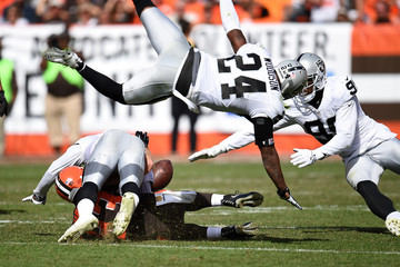 Aldon Smith Oakland Raiders v Cleveland Browns