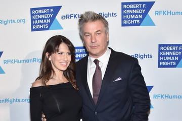 Alec Baldwin Hilaria Baldwin RFK Human Rights' Ripple of Hope Awards Honoring VP Joe Biden, Howard Schultz & Scott Minerd in New York City - Arrivals