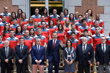 Alejandro Blanco King Felipe VI of Spain Attends a Meeting With Atlethes and Members of The COE
