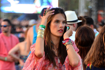Alessandra Ambrosio Festival Fashion at Coachella: 2nd Weekend