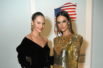 Alessandra Ambrosio Candice Swanepoel Cindy Crawford And Candice Swanepoel Host 'ANGELS' By Russell James Book Launch And Exhibit - Inside