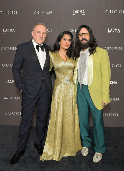 2018 LACMA Art + Film Gala Honoring Catherine Opie And Guillermo Del Toro Presented By Gucci - Red Carpet [gucci,red carpet,kering,lacma art film gala,suit,formal wear,event,fashion,premiere,dress,fashion design,tuxedo,smile,carpet,guillermo del toro,francois-henri pinault,catherine opie,salma hayek pinault,alessandro michele,chairman]