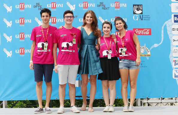 Giffoni Film Festival - Day 9 [youth,fun,leisure,summer,technology,competition,t-shirt,event,electronic device,team,alessia piovan,photocall,giffoni valle piana,italy,giffoni film festival]