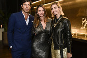 (L-R) Nacho Figueras, Valentina Micchetti and Delfina Blaquier attend the Alevi Milano NYFW Dinner on September 09, 2019 in New York City.