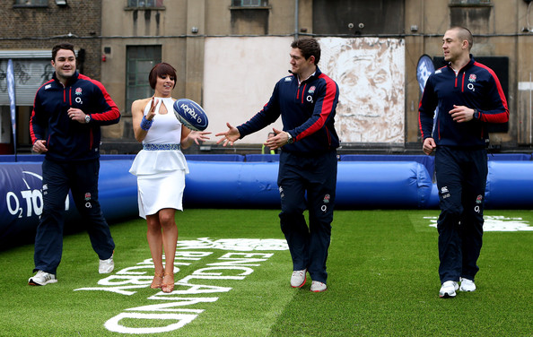 Launch of the new O2 Touch Campaign [strictly come dancing,sports,team,games,championship,player,team sport,competition event,sports training,recreation,sport venue,brad barrit,flavia cacace,mike brown,alex goode,touch rugby,england,london,launch,o2 touch campaign]